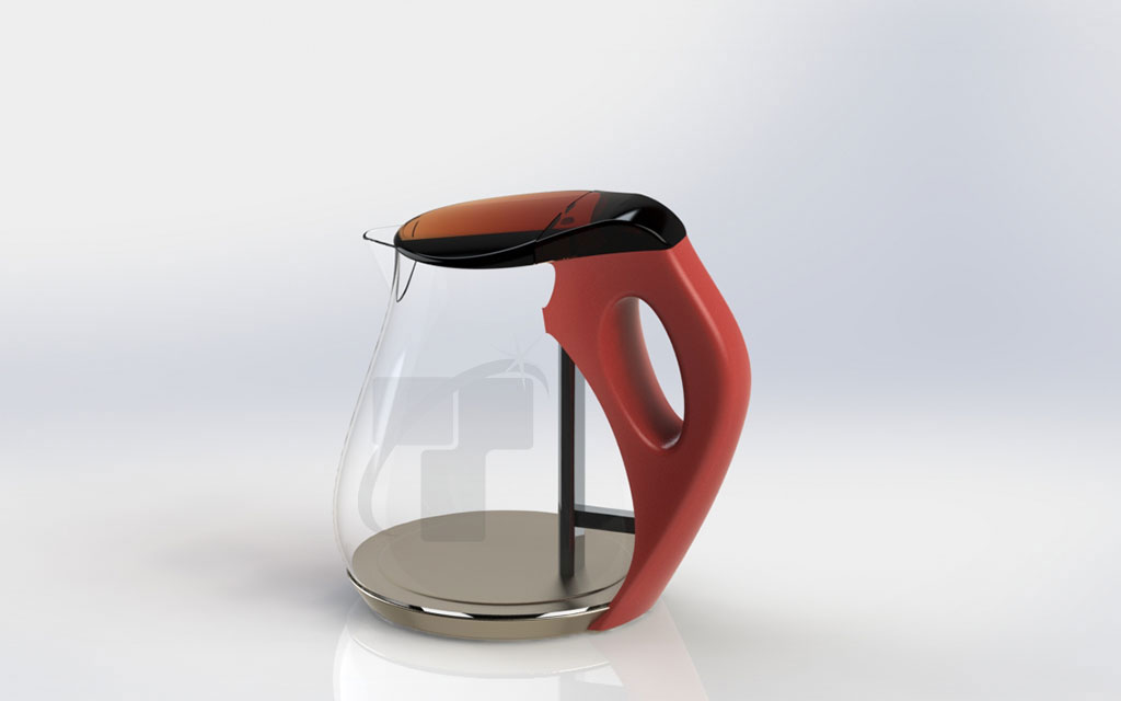 Kettle with holder